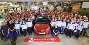 Yaris 2 milhões produzido na fábrica Toyota em França